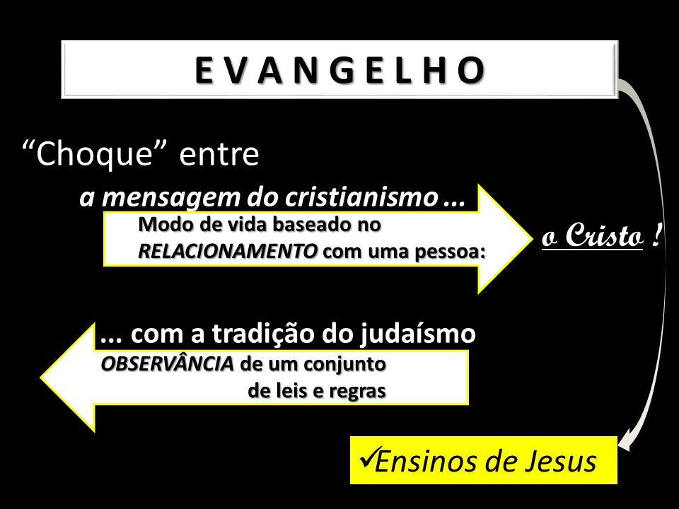 E V A N G E L H O Choque entre o Cristo ! Ensinos de Jesus