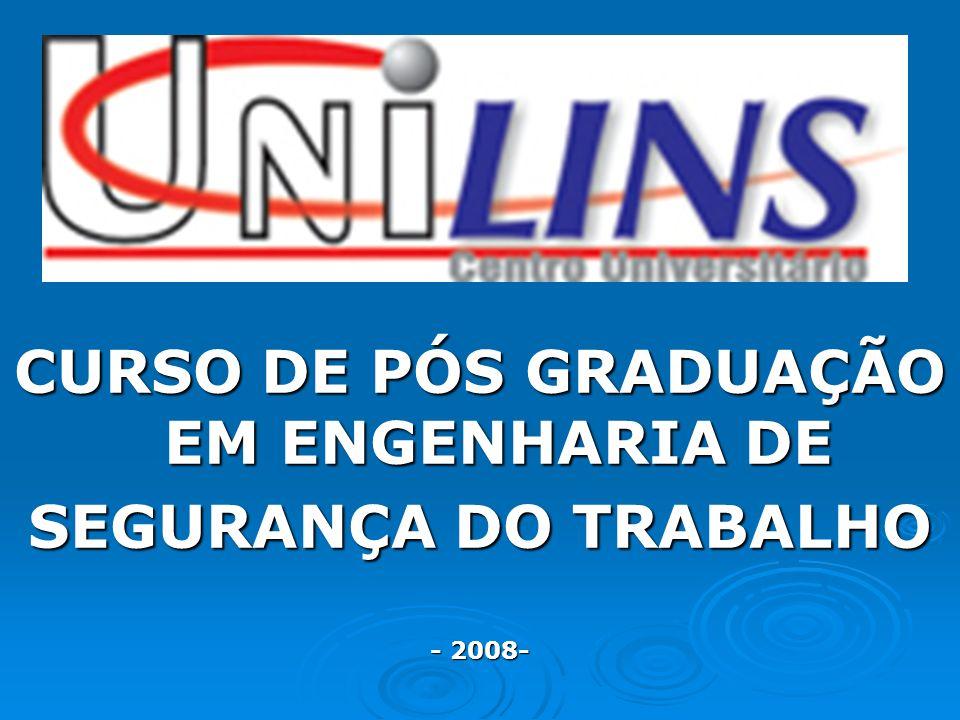 CURSO DE PÓS GRADUAÇÃO EM ENGENHARIA DE