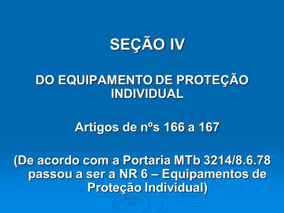 DO EQUIPAMENTO DE PROTEÇÃO INDIVIDUAL