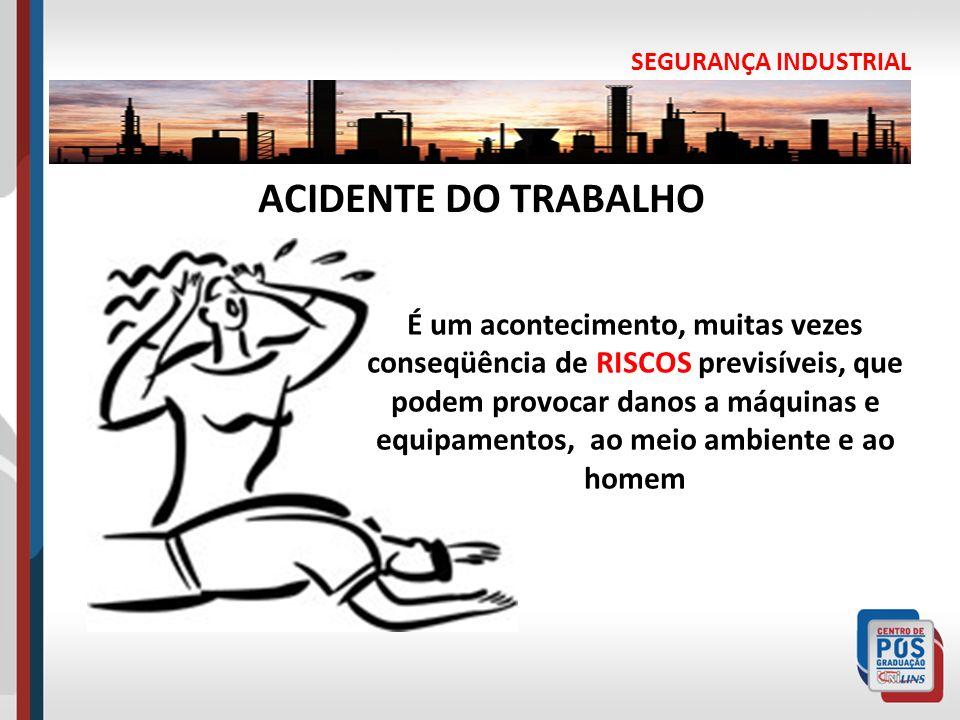 SEGURANÇA INDUSTRIAL ACIDENTE DO TRABALHO.