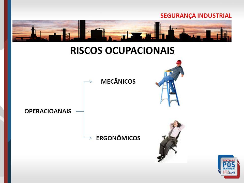 RISCOS OCUPACIONAIS SEGURANÇA INDUSTRIAL MECÂNICOS OPERACIOANAIS