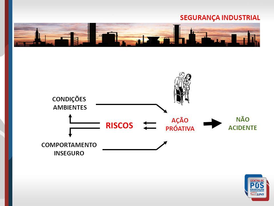 RISCOS SEGURANÇA INDUSTRIAL CONDIÇÕES AMBIENTES NÃO ACIDENTE AÇÃO