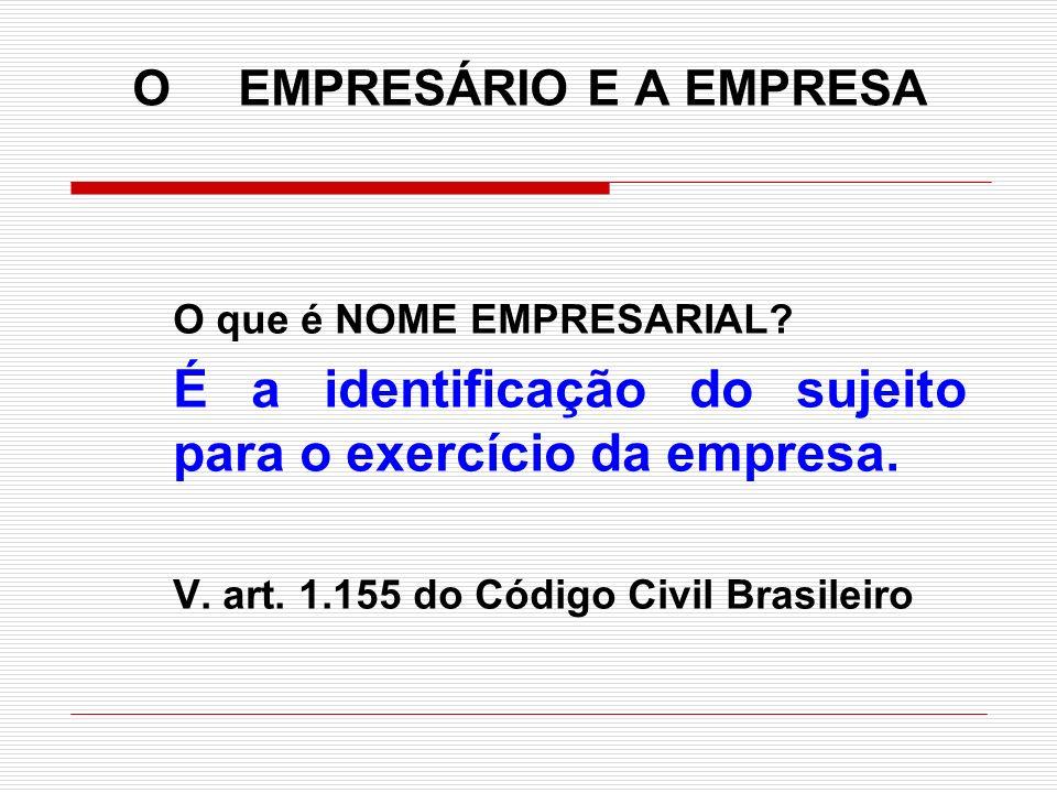 O EMPRESÁRIO E A EMPRESA
