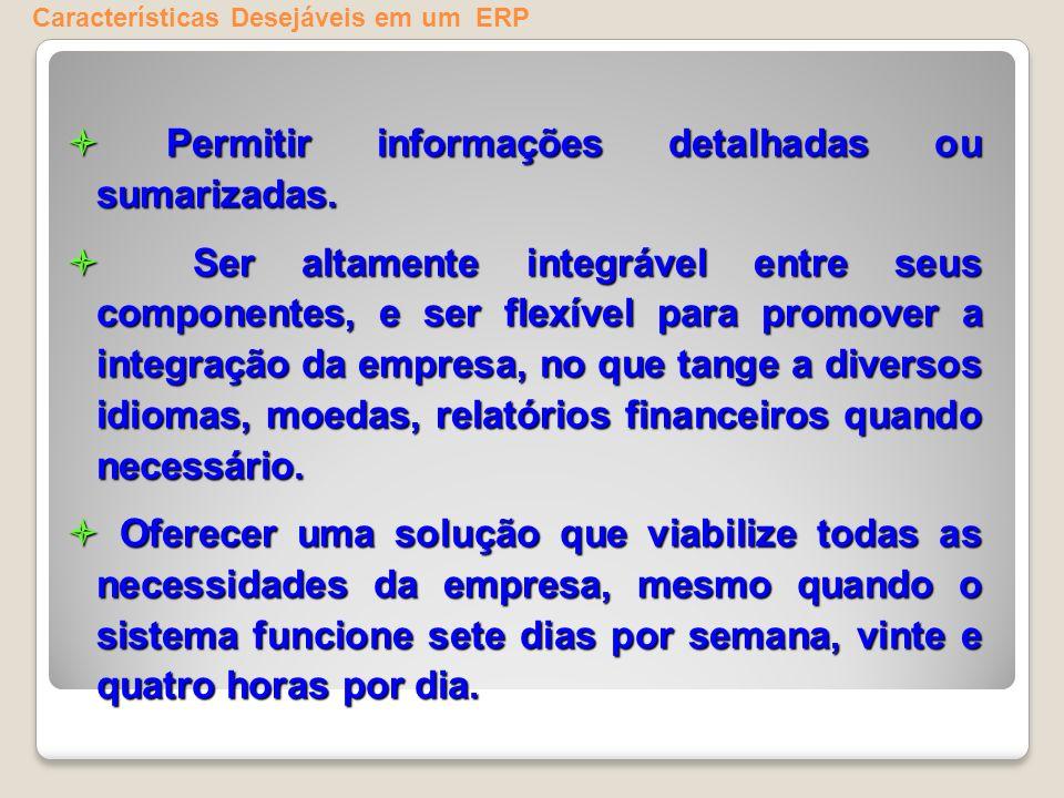 Características Desejáveis em um ERP