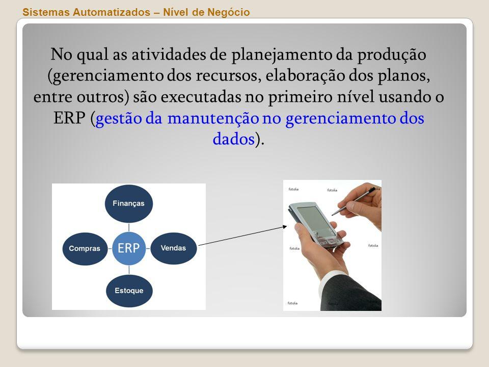 ERP (gestão da manutenção no gerenciamento dos dados).