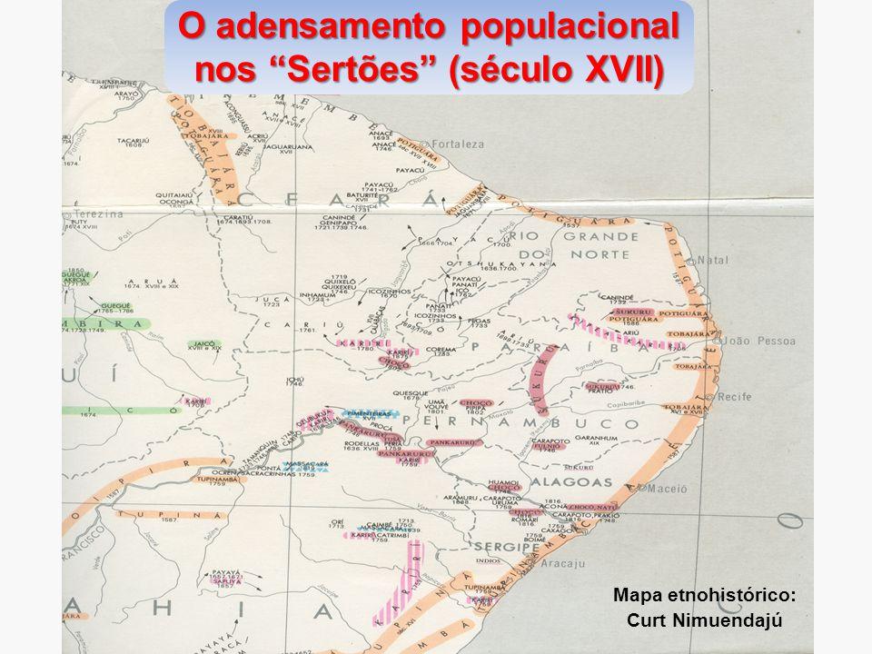 O adensamento populacional nos Sertões (século XVII)