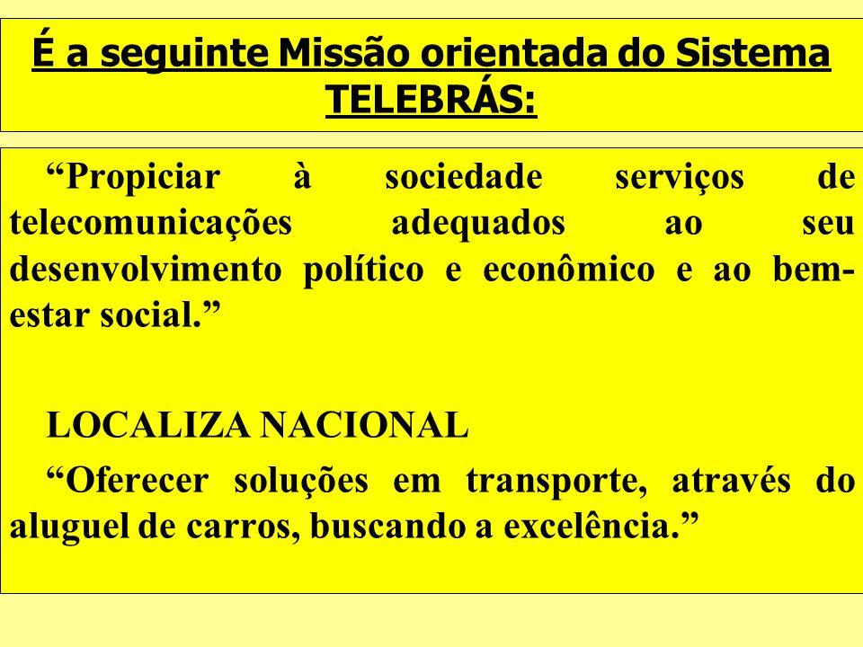É a seguinte Missão orientada do Sistema TELEBRÁS: