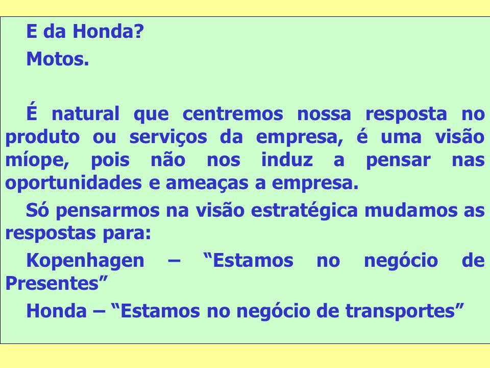 E da Honda Motos.