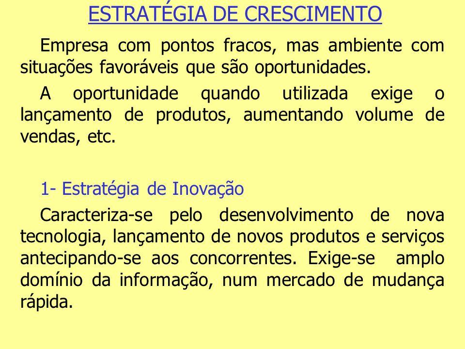ESTRATÉGIA DE CRESCIMENTO