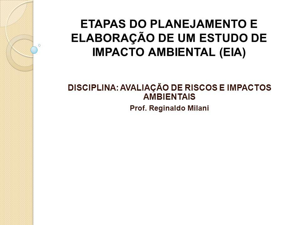 DISCIPLINA: AVALIAÇÃO DE RISCOS E IMPACTOS AMBIENTAIS
