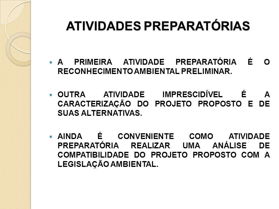 ATIVIDADES PREPARATÓRIAS