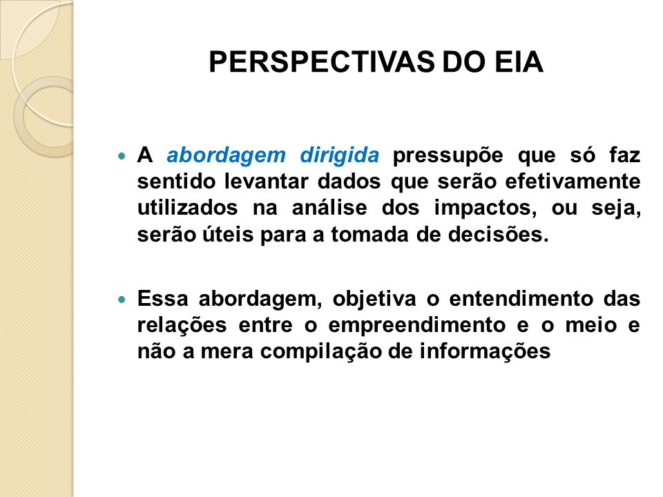 PERSPECTIVAS DO EIA