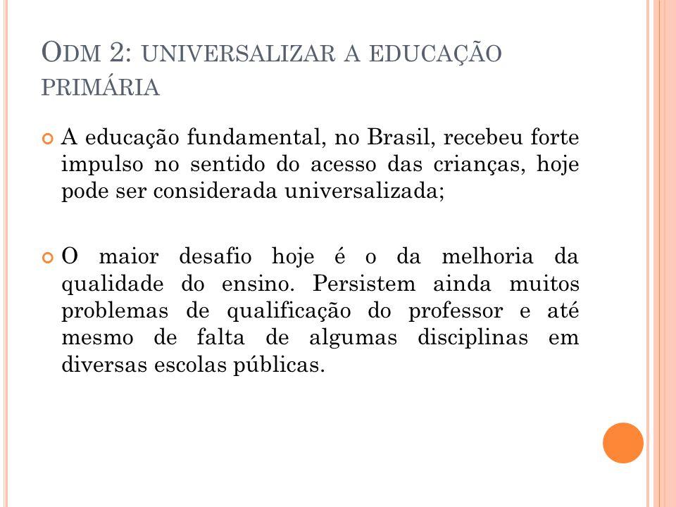Odm 2: universalizar a educação primária