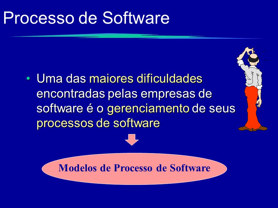 Processo de Software Uma das maiores dificuldades encontradas pelas empresas de software é o gerenciamento de seus processos de software.