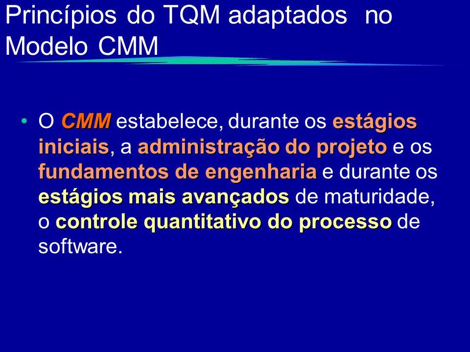 Princípios do TQM adaptados no Modelo CMM