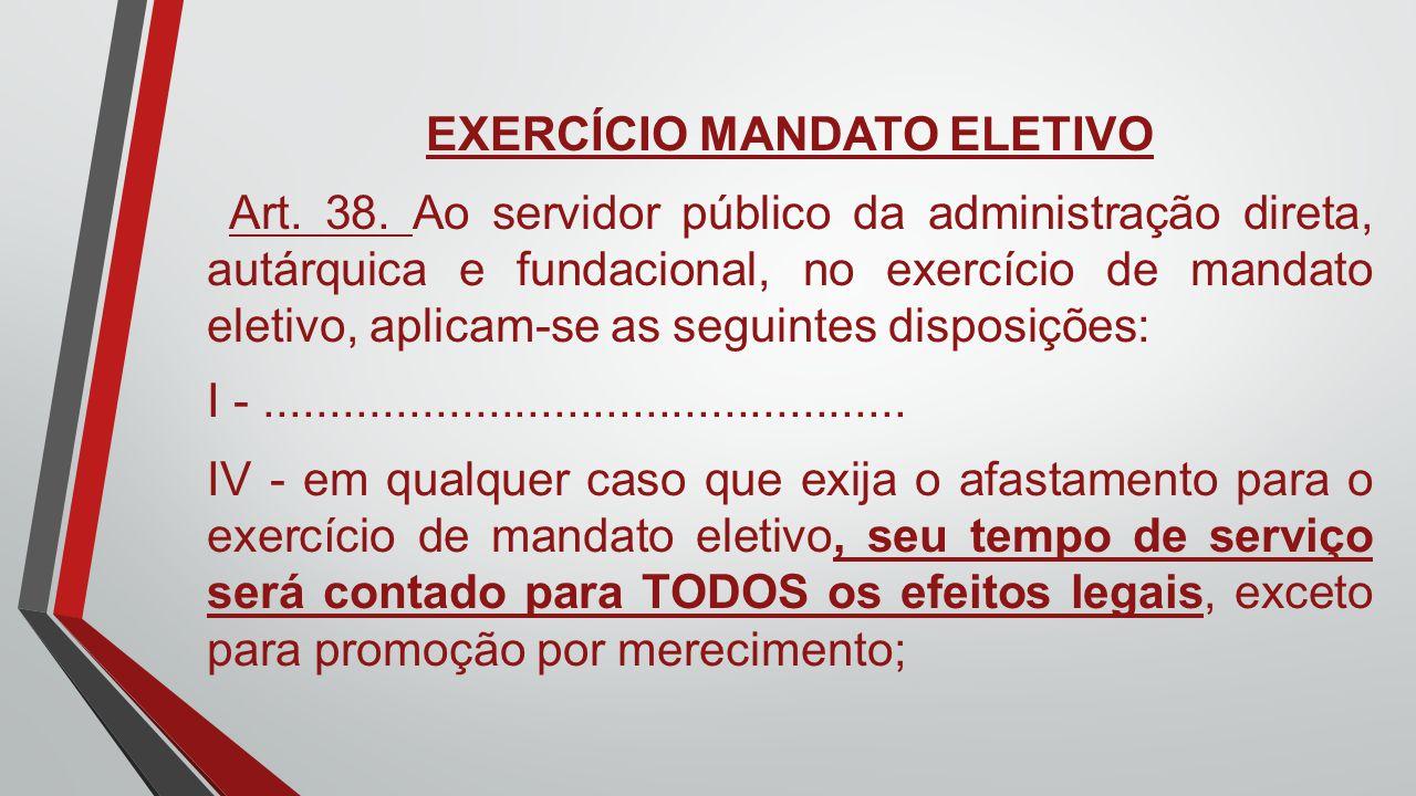 EXERCÍCIO MANDATO ELETIVO