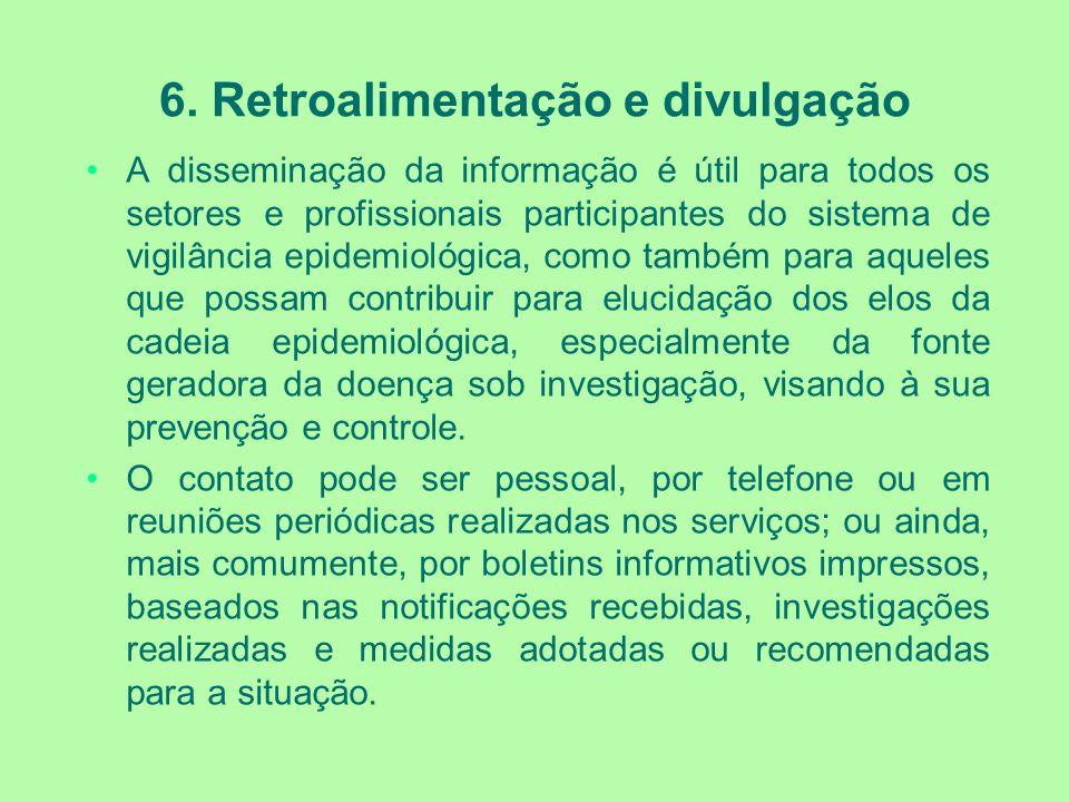 6. Retroalimentação e divulgação