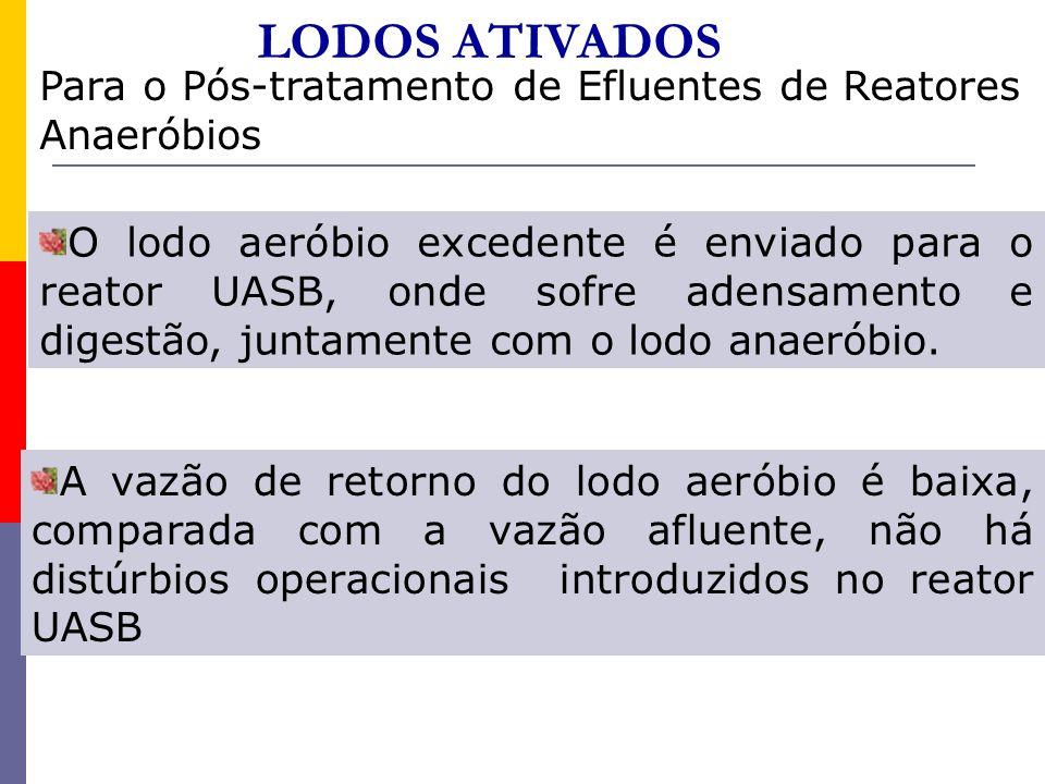 LODOS ATIVADOS Para o Pós-tratamento de Efluentes de Reatores Anaeróbios.
