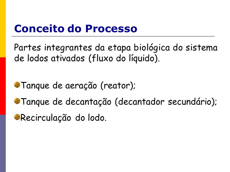 Conceito do ProcessoPartes integrantes da etapa biológica do sistema de lodos ativados (fluxo do líquido).