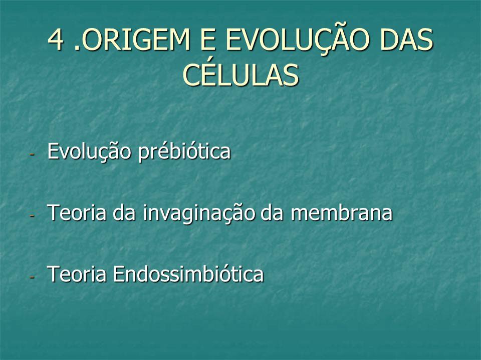 4 .ORIGEM E EVOLUÇÃO DAS CÉLULAS