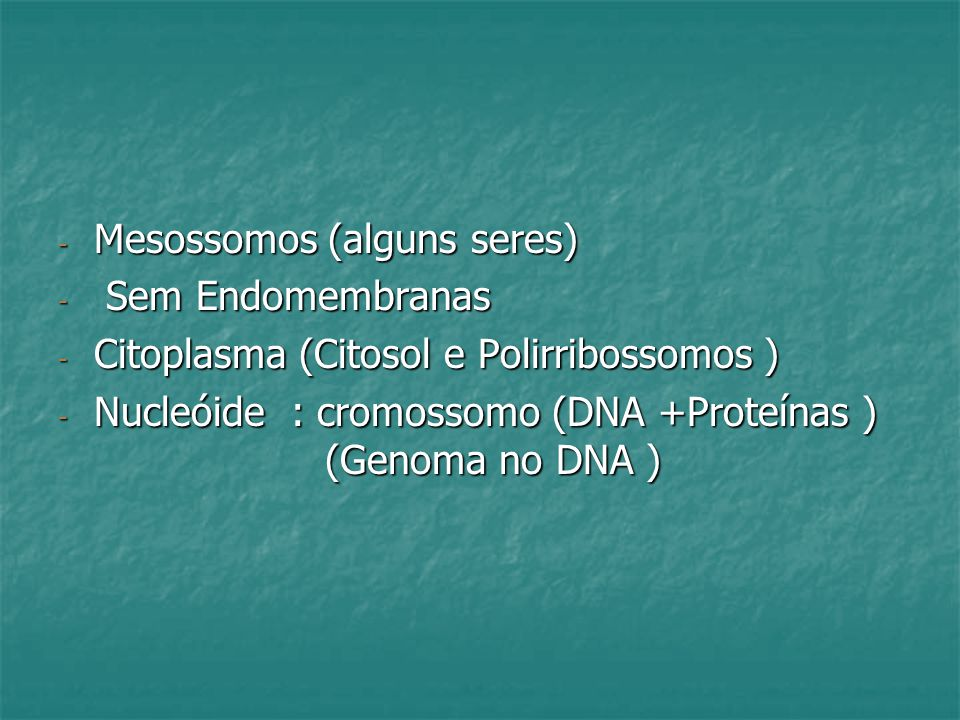 Mesossomos (alguns seres)