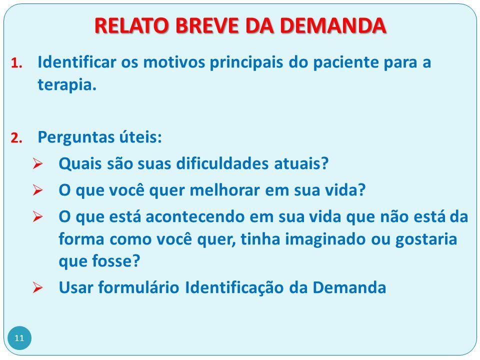 RELATO BREVE DA DEMANDA