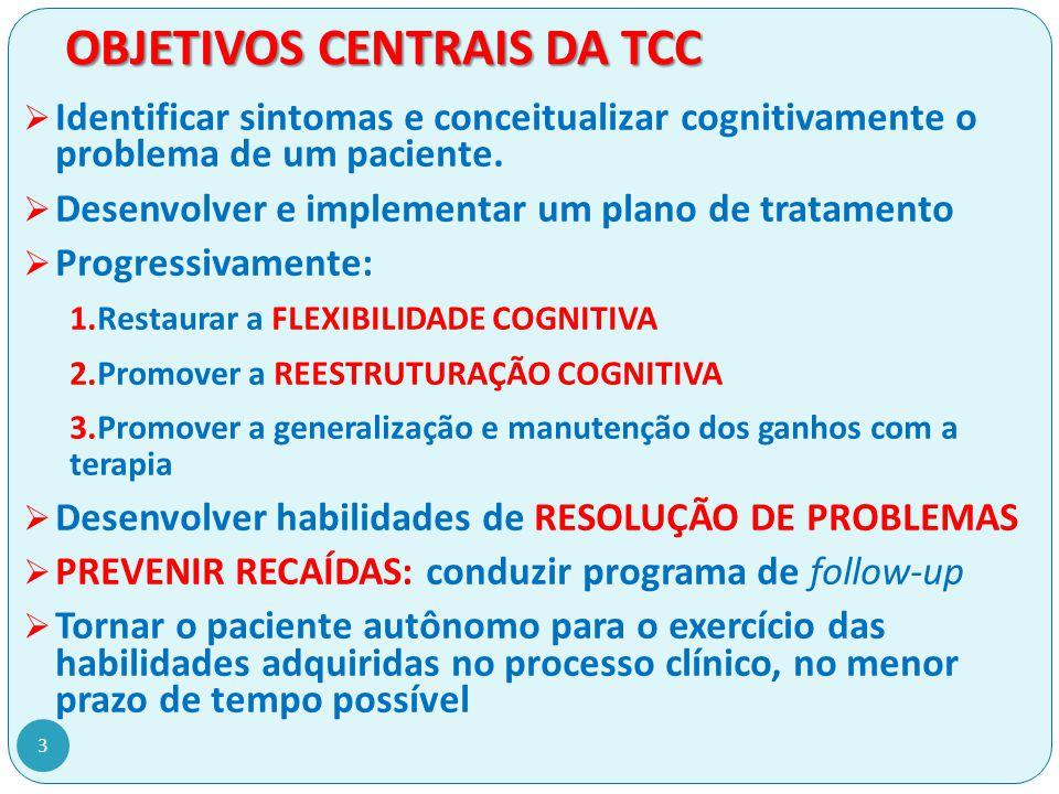 OBJETIVOS CENTRAIS DA TCC