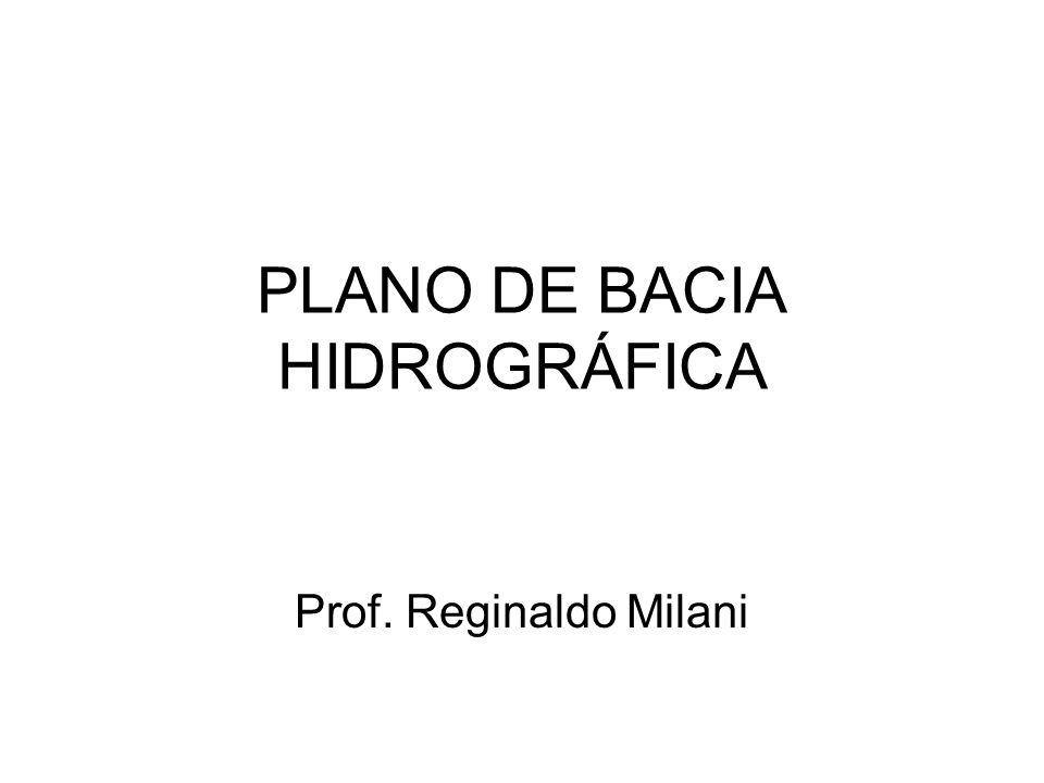 PLANO DE BACIA HIDROGRÁFICA