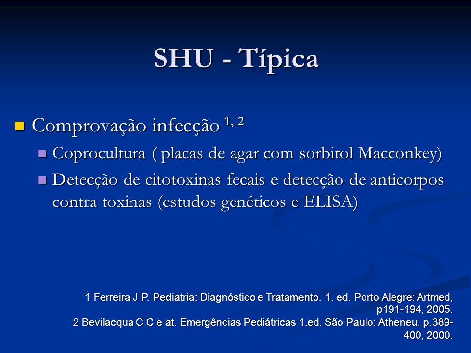 SHU - Típica Comprovação infecção 1, 2