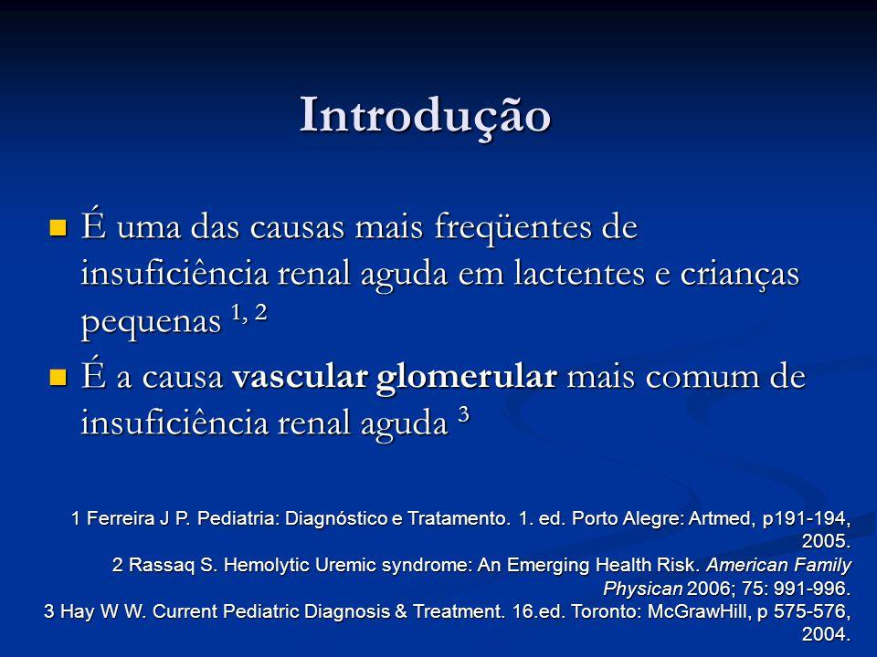 Introdução É uma das causas mais freqüentes de insuficiência renal aguda em lactentes e crianças pequenas 1, 2.
