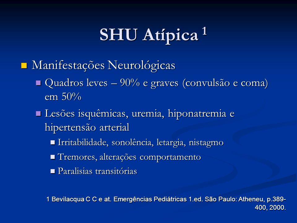 SHU Atípica 1 Manifestações Neurológicas