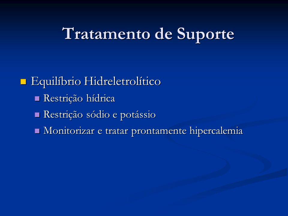 Tratamento de Suporte Equilíbrio Hidreletrolítico Restrição hídrica