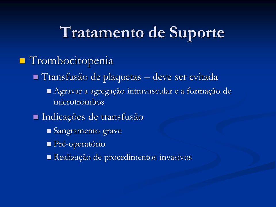 Tratamento de Suporte Trombocitopenia