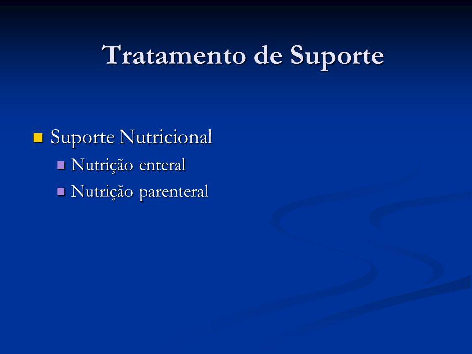 Tratamento de Suporte Suporte Nutricional Nutrição enteral