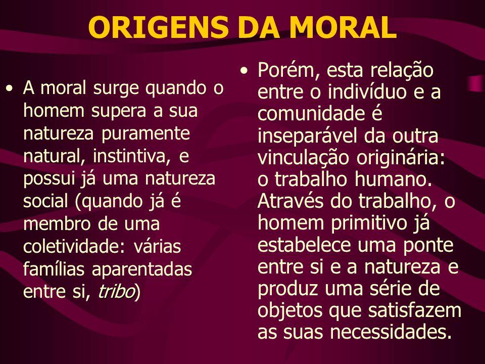 ORIGENS DA MORAL