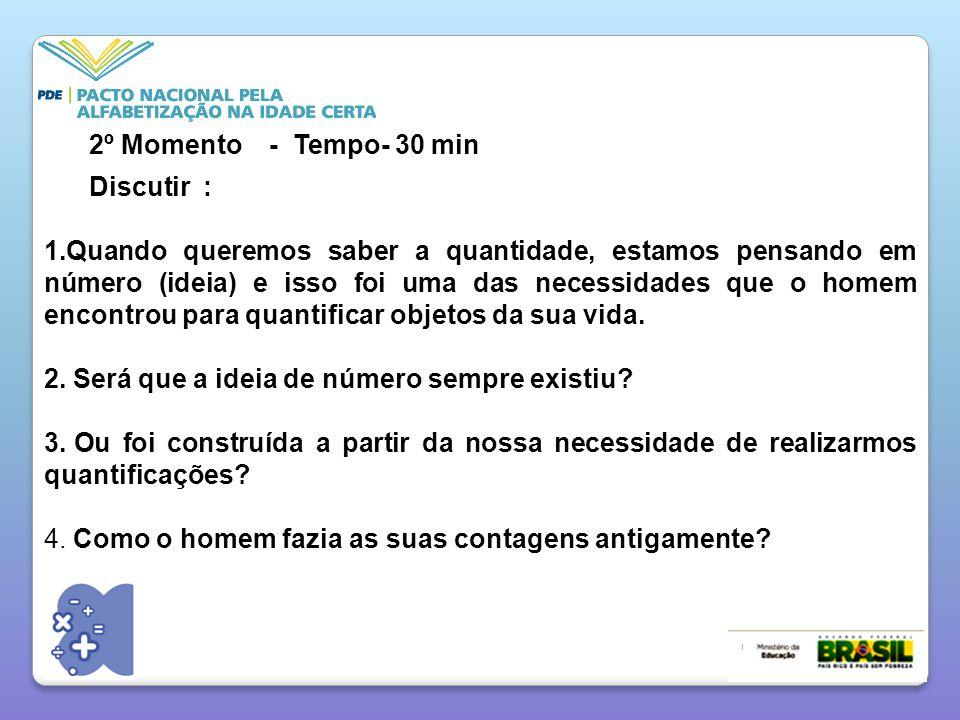 2º Momento - Tempo- 30 min Discutir :