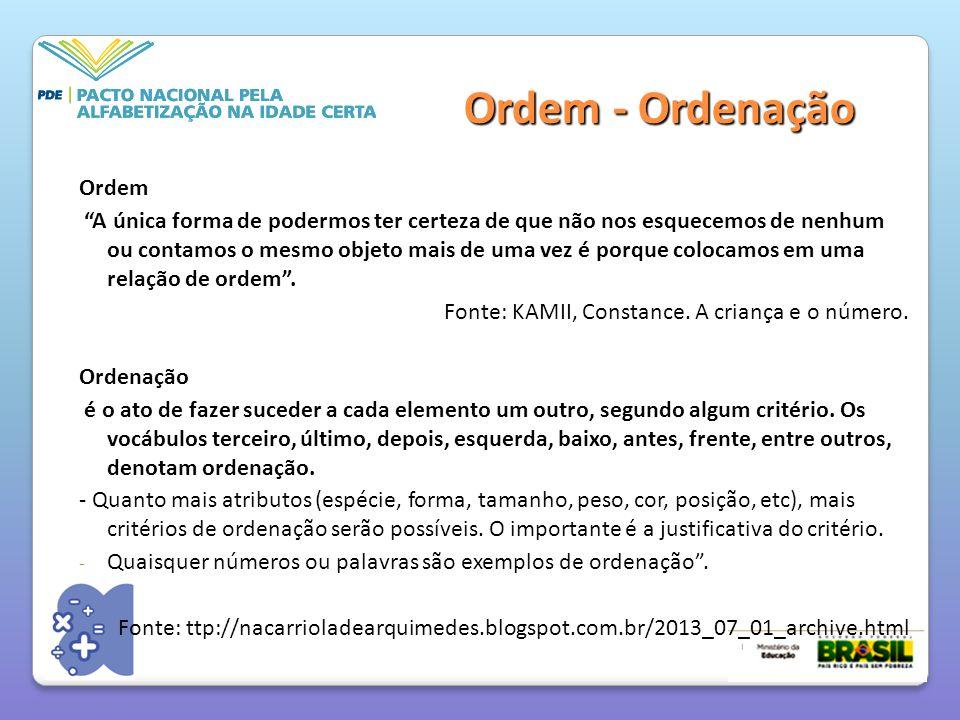 Ordem - Ordenação Ordem