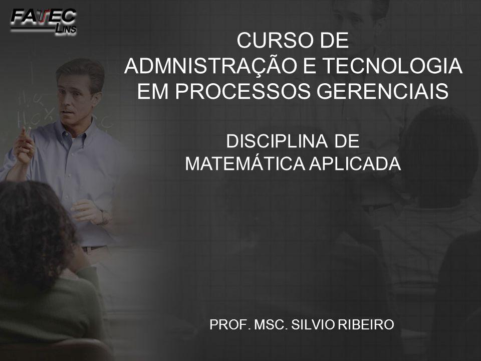 PROF. MSC. SILVIO RIBEIRO
