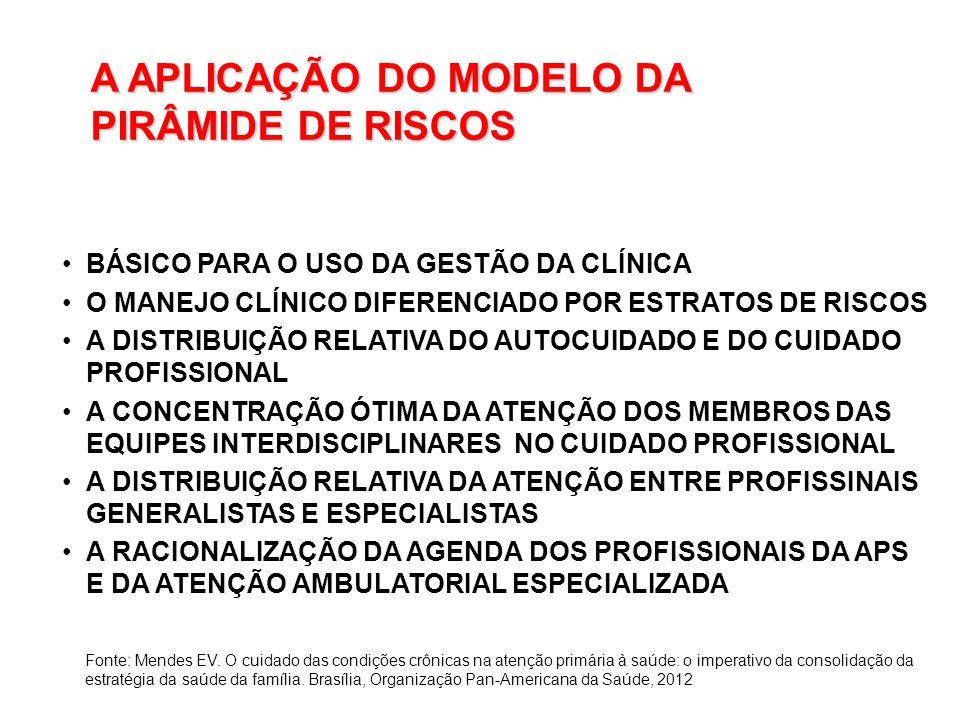 A APLICAÇÃO DO MODELO DA PIRÂMIDE DE RISCOS