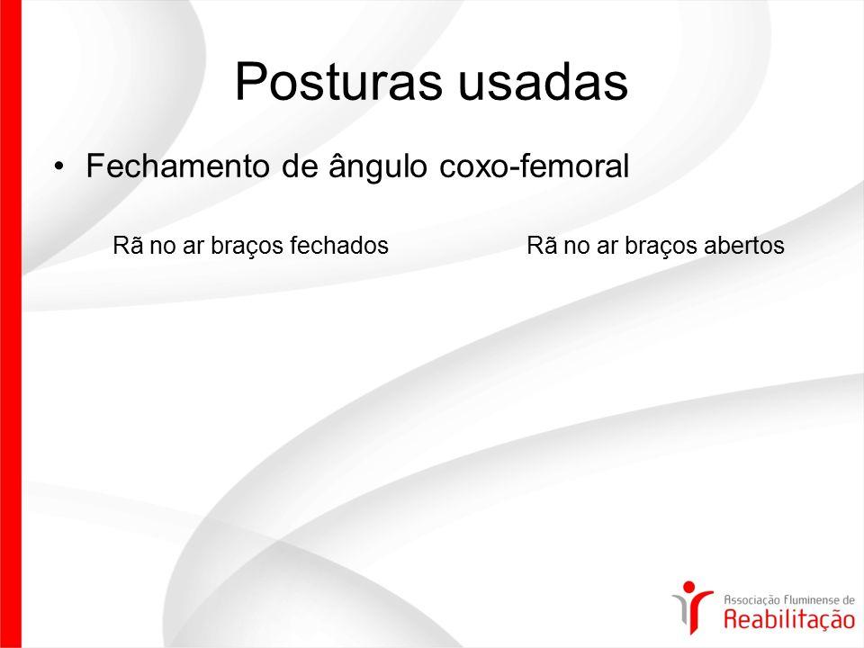 Posturas usadas Fechamento de ângulo coxo-femoral