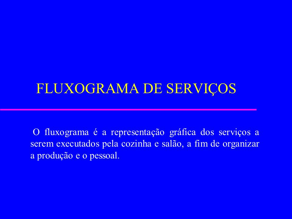 FLUXOGRAMA DE SERVIÇOS