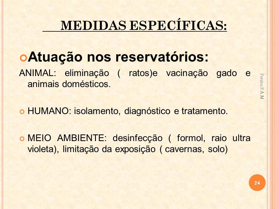 Atuação nos reservatórios: