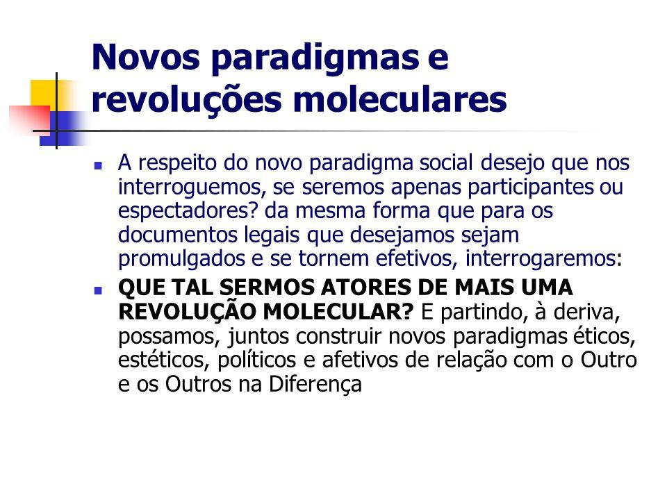 Novos paradigmas e revoluções moleculares
