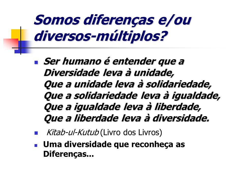 Somos diferenças e/ou diversos-múltiplos