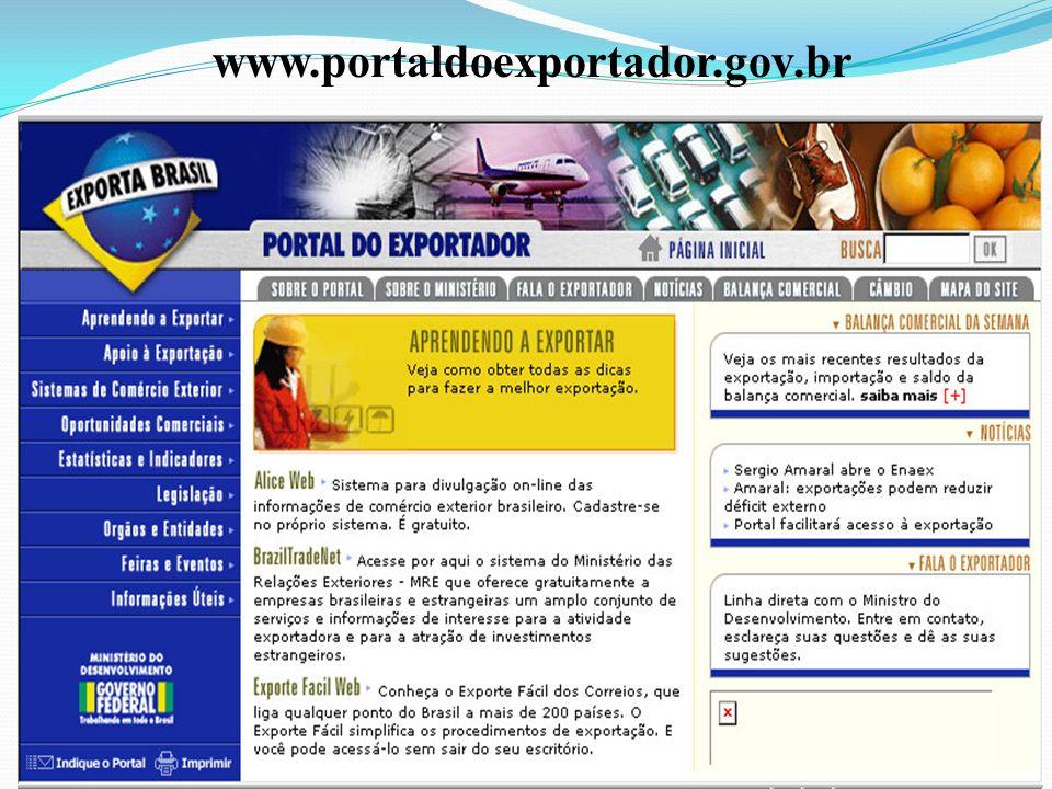 www.portaldoexportador.gov.br Prof.Luiz A. Cabañas