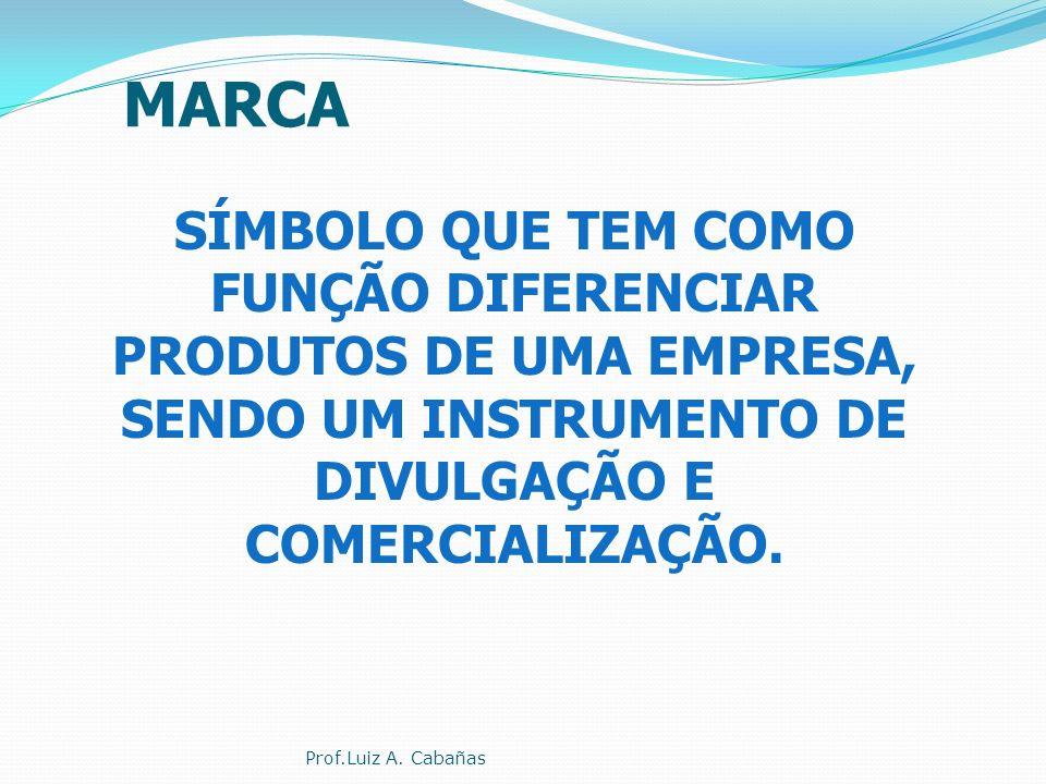 MARCA SÍMBOLO QUE TEM COMO FUNÇÃO DIFERENCIAR PRODUTOS DE UMA EMPRESA, SENDO UM INSTRUMENTO DE DIVULGAÇÃO E COMERCIALIZAÇÃO.