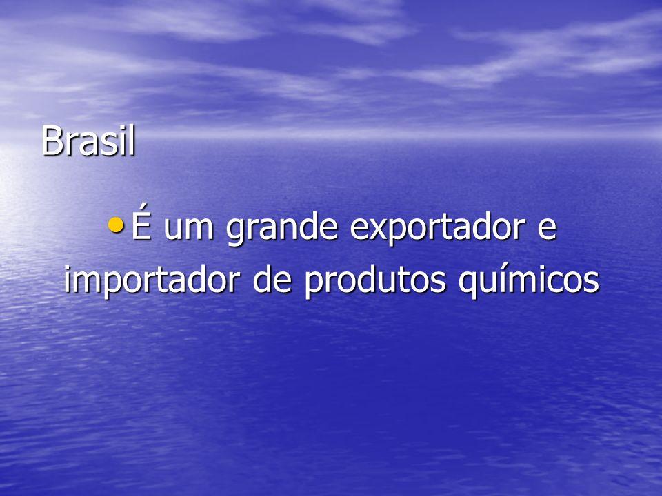 Brasil É um grande exportador e importador de produtos químicos