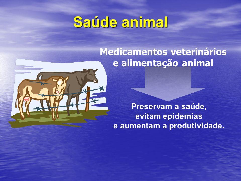 Medicamentos veterinários e aumentam a produtividade.
