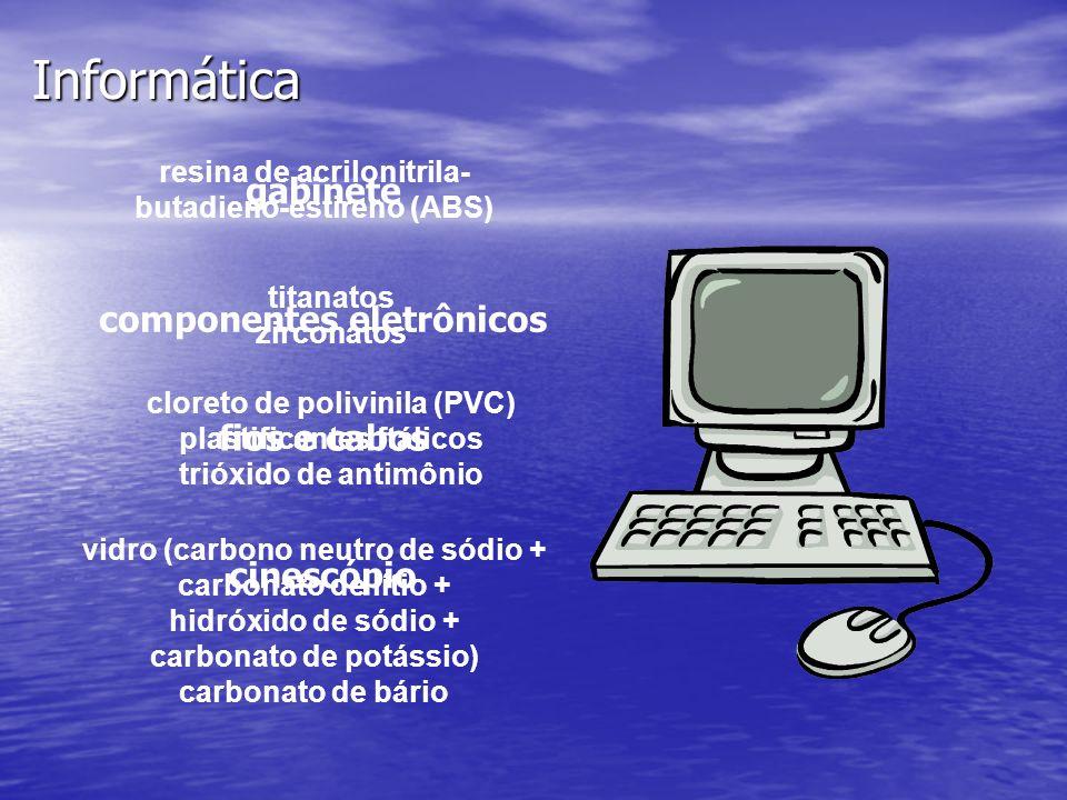 Informática gabinete componentes eletrônicos fios e cabos cinescópio