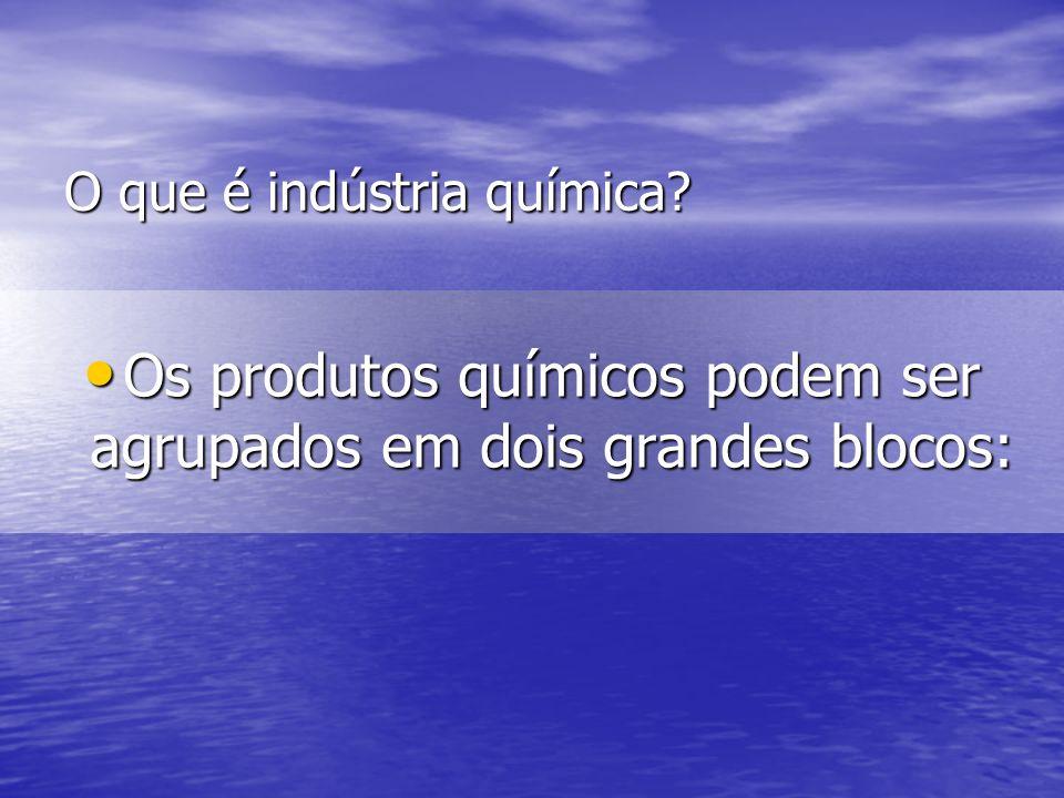 O que é indústria química
